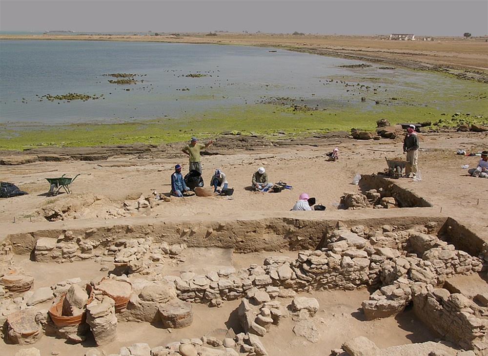 Fig. 3 : le site d'al-Khidr fouillé par la Kuwaiti-Slovak Archaeological Mission (KSAM 2007)