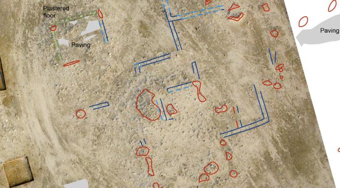 Cartographie du site d'al-Qusur : le centre de l'établissement